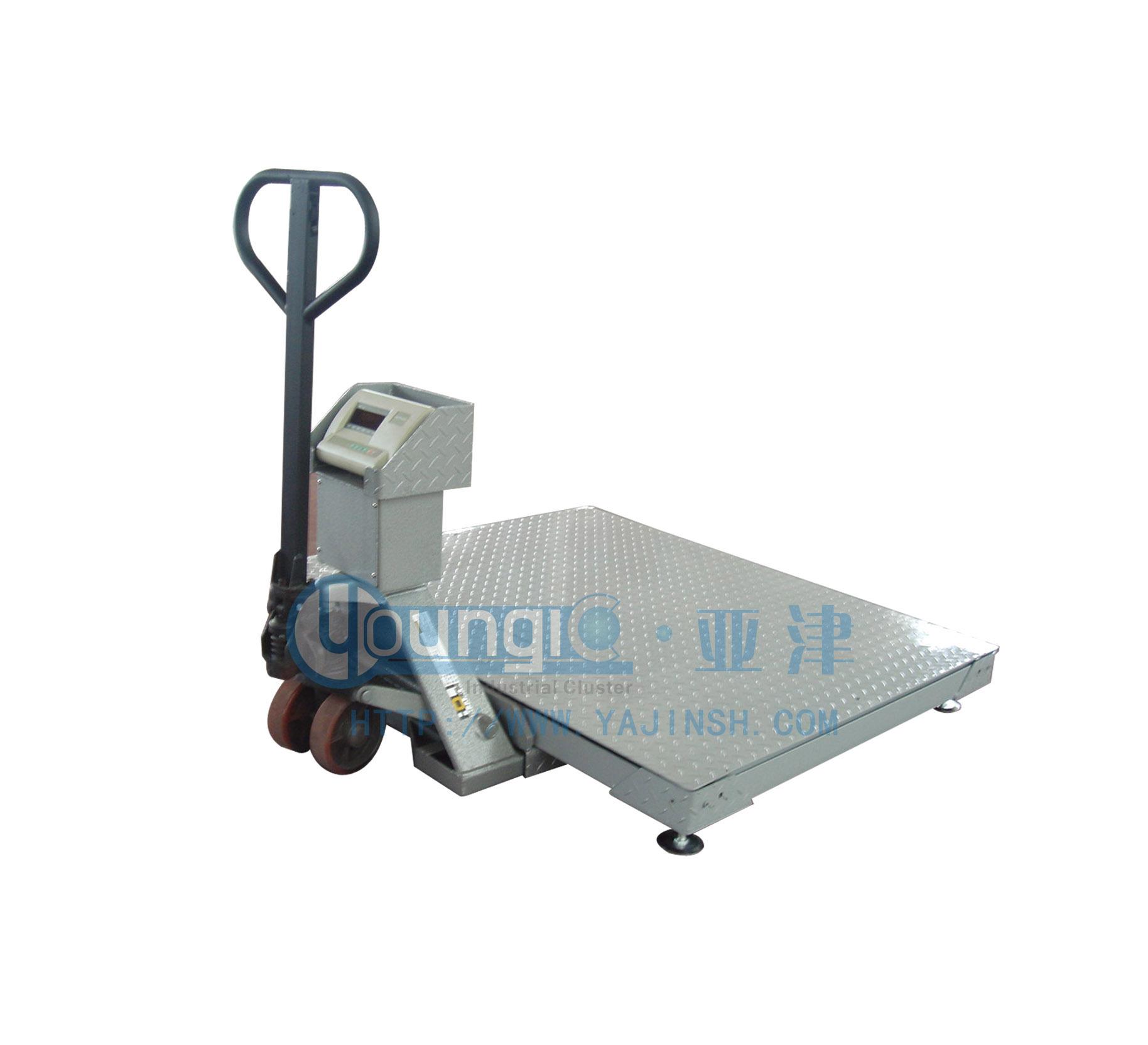 供应上海搬运叉车地磅 2吨电子叉车秤地磅