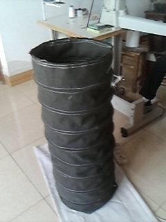 青岛灰色水泥散装伸缩布袋产品图