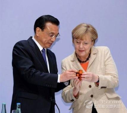 默克尔赠古中国地图